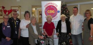 Bridge View Care Home Residents Receiving Gifts from Wynsors