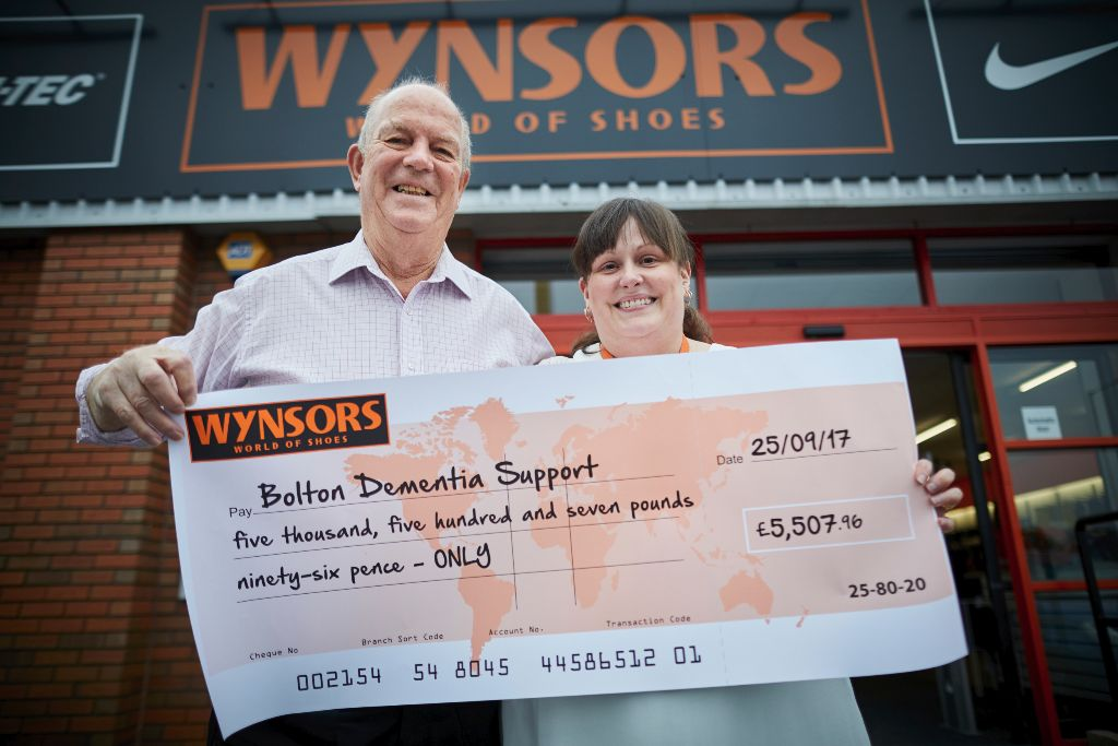 Wynsors Donate To Bolton Dementia