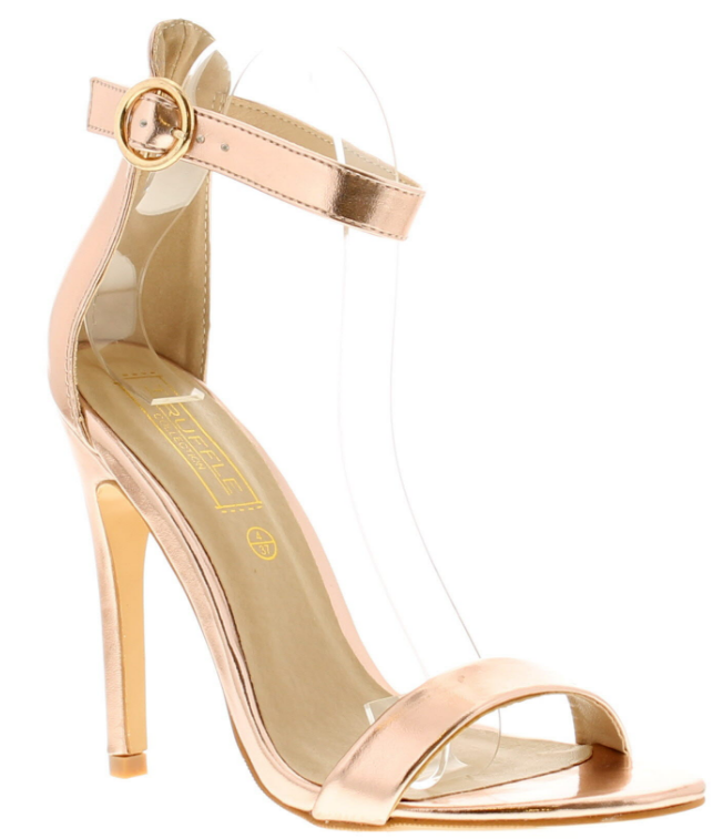b1175e0da5 Rose-gold stilettos are versatile so you can style them differently  throughout wedding season.