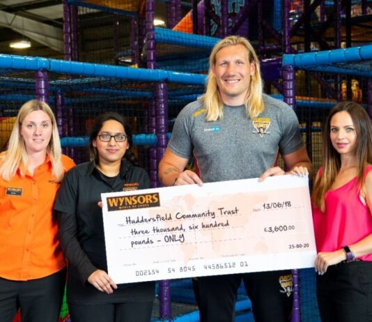 Wynsors World of Shoes donates £3,600 to Huddersfield Community Trust