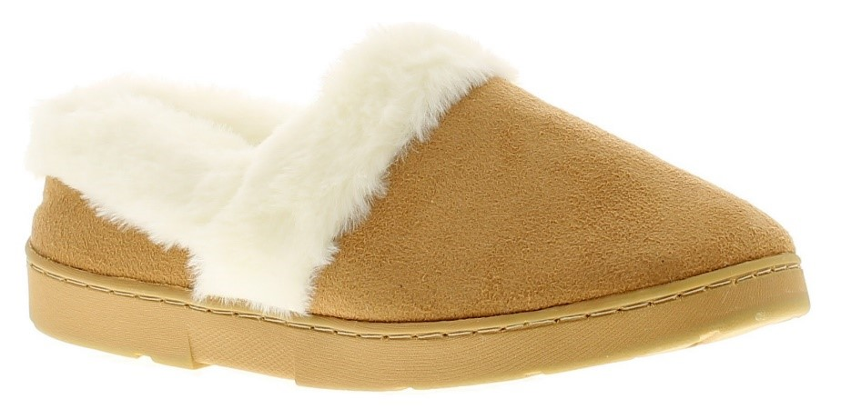 A pair of faux-fur-lined slippers are perfect to keep her cosy and stylish this winter.