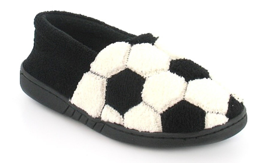 Football-themed slippers are bound to score you a gift goal when giving presents this Christmas.