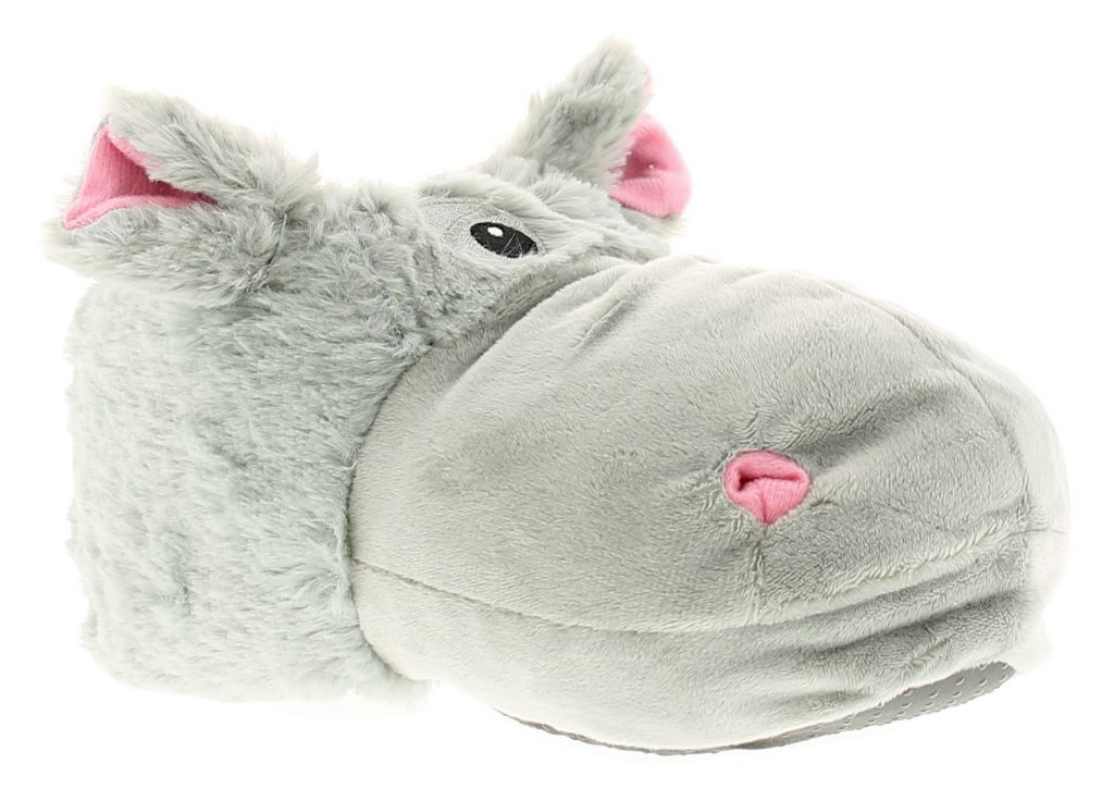 Help them to embrace their wild side in a pair of fun hippo slippers for women and kids