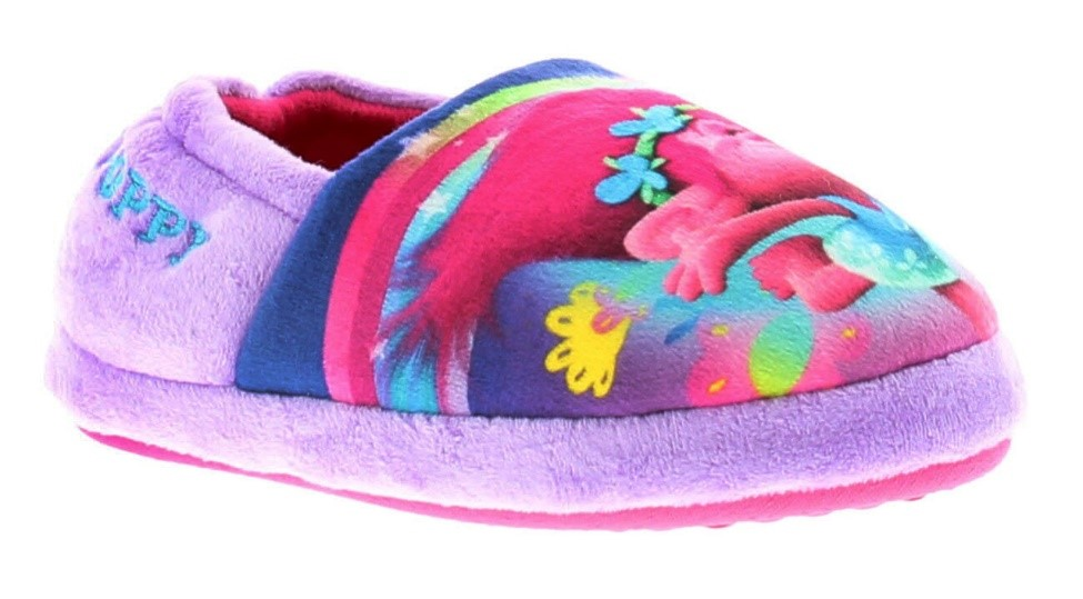 Some colourful character slippers will put a smile on the face of any Trolls lover!