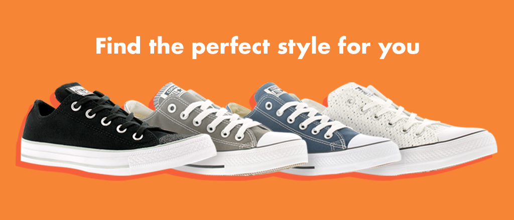 Experiment with different styles and silhouettes in the warmer months; from canvas trainers and slip-ons to wedges.