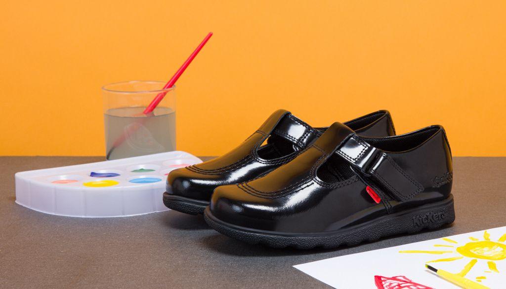 Kickers-fragms-t-bar School Shoes
