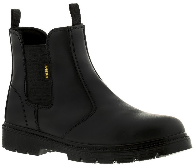 Opt for these Tradesafe Chelsea boots for protection and style in one.