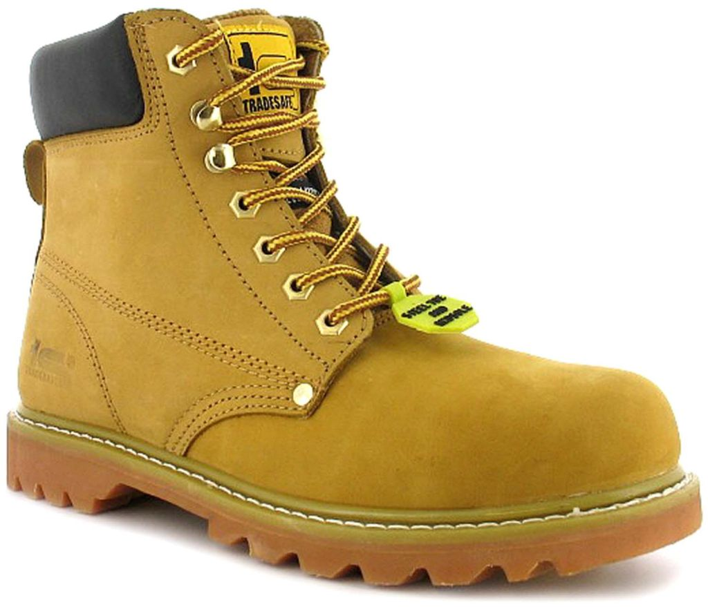 These supportive, steel-toe safety boots from Tradesafe are incredible value.