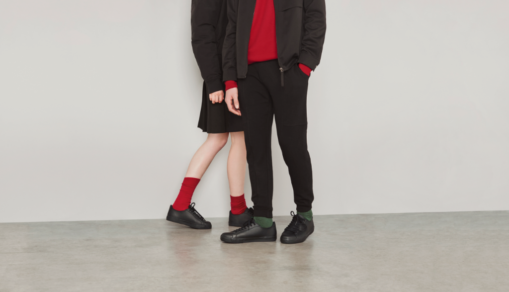 Some schools allow kids to wear unbranded clothing and school shoes, if they are the right colour.